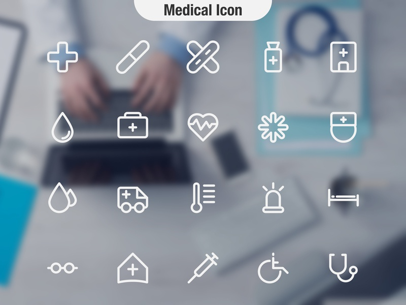 Medical Icon mobile ios clean blue app vector typography minimal logo lettering illustrator illustration identity icon character branding brand type flat design
