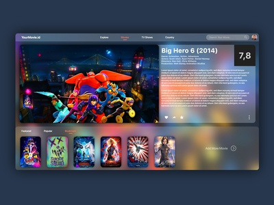 YourMovie.Id UI Design
