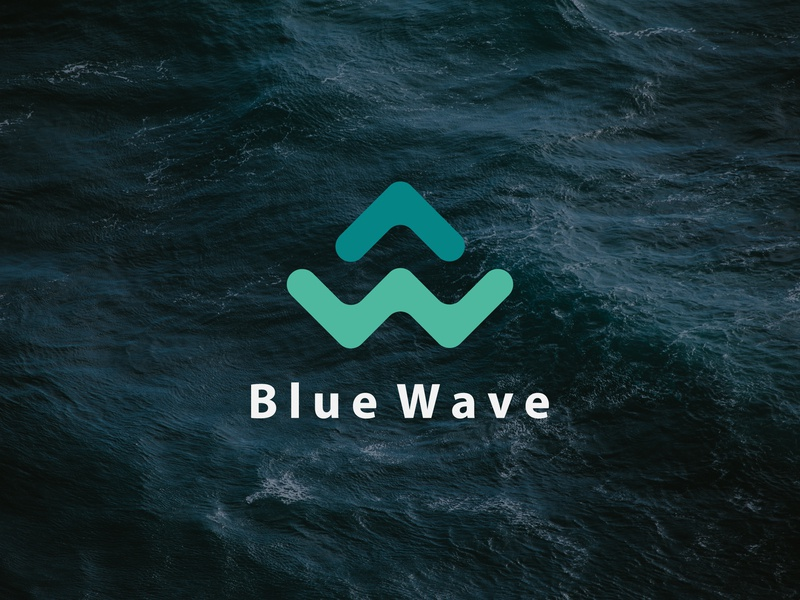 Blue Wave Logo Design mobile clean vector ios logo lettering blue typography type minimal illustrator app illustration identity icon character flat branding brand design