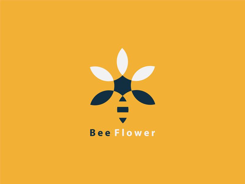 Beeflower clean vector blue type lettering animation minimal identity app ui typography icon illustrator illustration character branding logo flat brand design