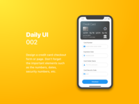 Daily UI 002 Credit Card Checkout