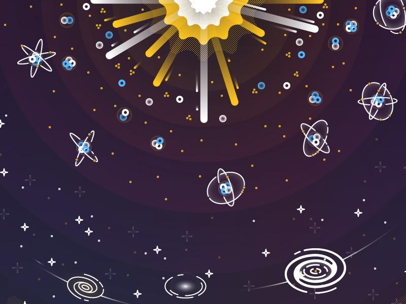 Big Bang big bang galaxy space universe illustration infographic