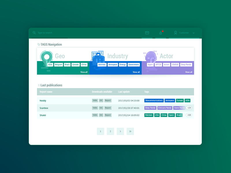 Dashboard TAG Filter by Alexander Minibaev on Dribbble