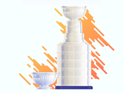 Stanley Cup – 1892 vs Current hockey stanley cup trophy cup illustration