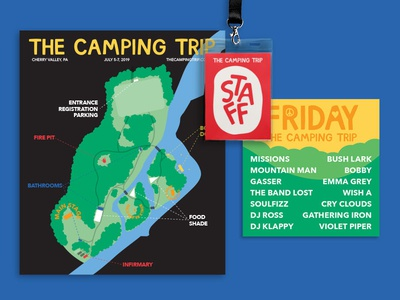 The Camping Trip Music Festival - Visual Identity