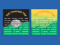 The Camping Trip Music Festival - Line Up Cards