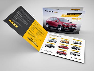 Divulgação PCD Chevrolet branding brochure design brochure mockup design