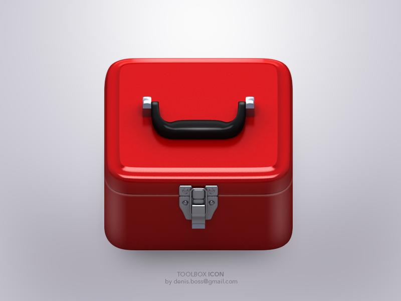 Tool box tool box box tool icon ios illustration 3d icons