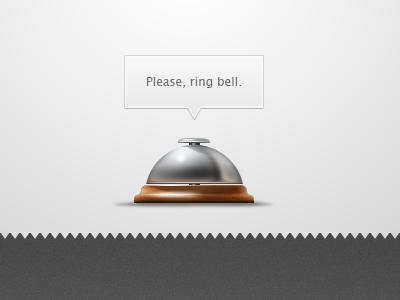 Ring bell ring ringing bell hotel reception illustration