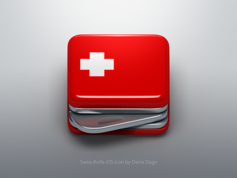 Swiss Knife Ios Icon By Denis Dsgn Dribbble