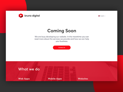 Bruno Digital - Coming Soon ui website coming soon agency