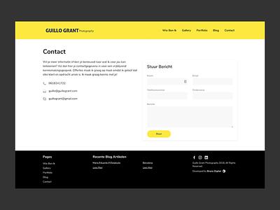 Contact Page web design web ui design ui website contact