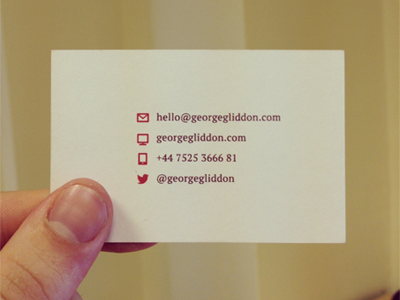 Clean & Minimal Business Cards letterpress gloss business cards business cards clean sleek minimal techcrunch disrupt