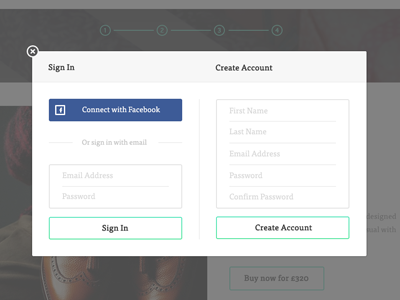 Sign In Modal login modal popup facebook textfield signup createaccount presentco georgegliddon salmonstarfish