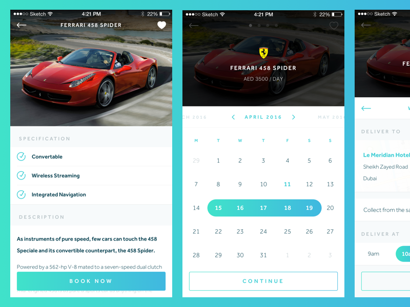 Luxury Car Rental Booking Flow By George Gliddon Dribbble Dribbble