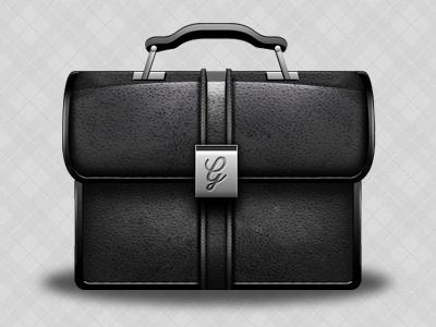 Briefcase Vector briefcase case brief vector pattern patterns leather buckle black stitching grain noise george gliddon