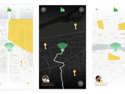 Day vs. Night – Treasure Hunt Map 🗺 settings profile dropdown menu play dark key ui game hunt treasure map