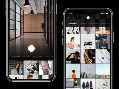 Take Photo / Choose Photo Experience– Farfetch search farfetch thumbnail picture swipe image choose select album shutter photo camera