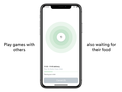 Play whilst your orders on the way - Careem NOW animation loader loading breadcrumbs progress bar add to basket food delivery menu basket checkout simple game ux careem now careem tracking delivery gaming naughts crosses tic tac toe game