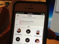 Schedule App –– Invite user to event screen