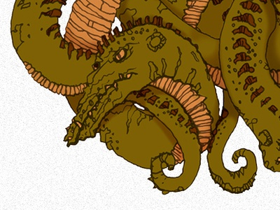 Double Dragon Knot celtic monster illustration dragon