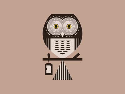 Broaden Owl branding feather bird owl design logo illustration