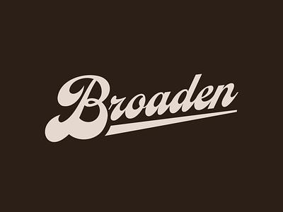 Broaden Script icon typography logo design branding