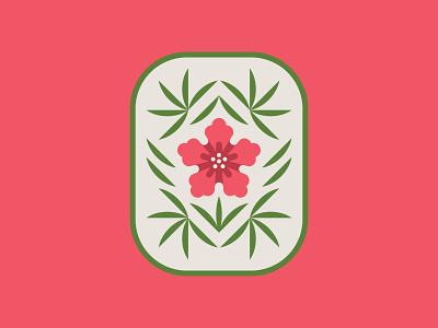 Love of Land Badge badge vector flower illustration icon design branding