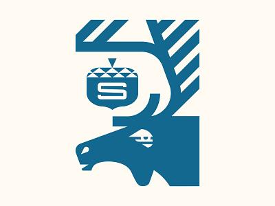 Sibb's icon design acorn moose illustration branding