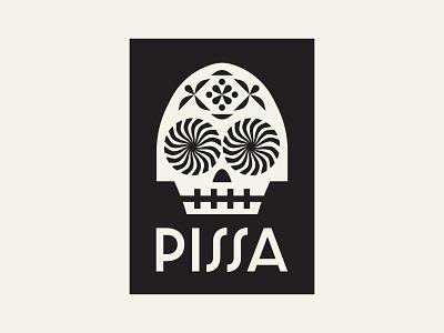 Pizza Voodoo design voodoo poster art logo pizza skull icon illustration branding