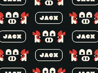 Jacx Pattern pattern bird badge animal chicken pig icon branding