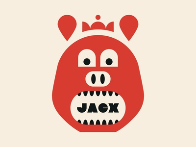 Pig Prince typography design branding teeth restaurant crown pig illustration icon