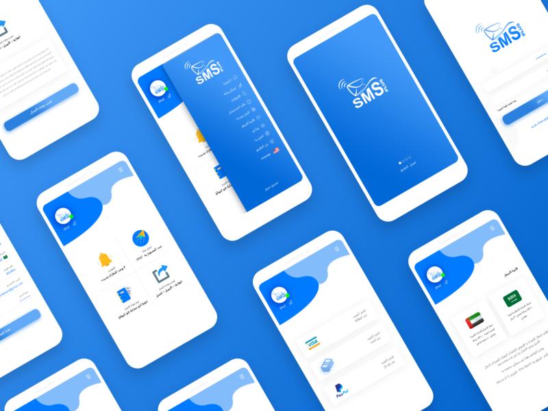 ARSL.SMS sms marketing sms splash mobile intro idea app ui design
