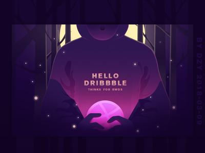 Hello Dribbble - 03/09/2018 at 02:04 AM 插画