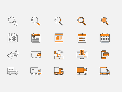 Dribble Icon Sets flat illustrations icons