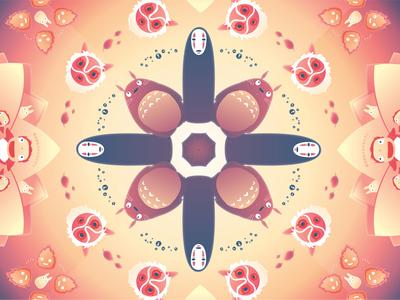 Studio Ghibli Kaleidoscope