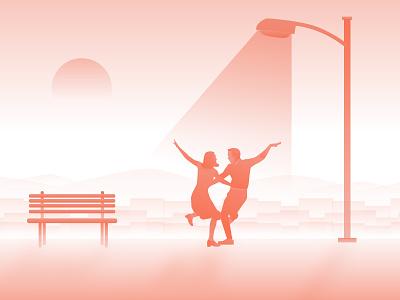 Lala Land Illustration movieposter land lala lalaland stone emma illustration gosling ryan design pianist artwork