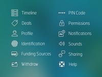 mCASH Sidebar Icons