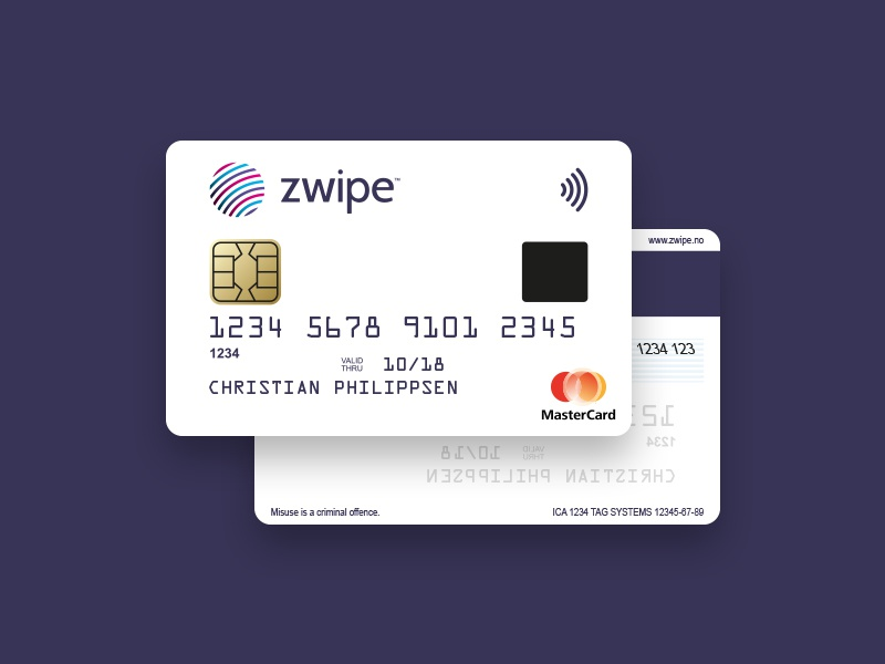 zwipe – Fingerprint Payment Card biometric zwipe payment card payment card mastercard touch id fingerprint