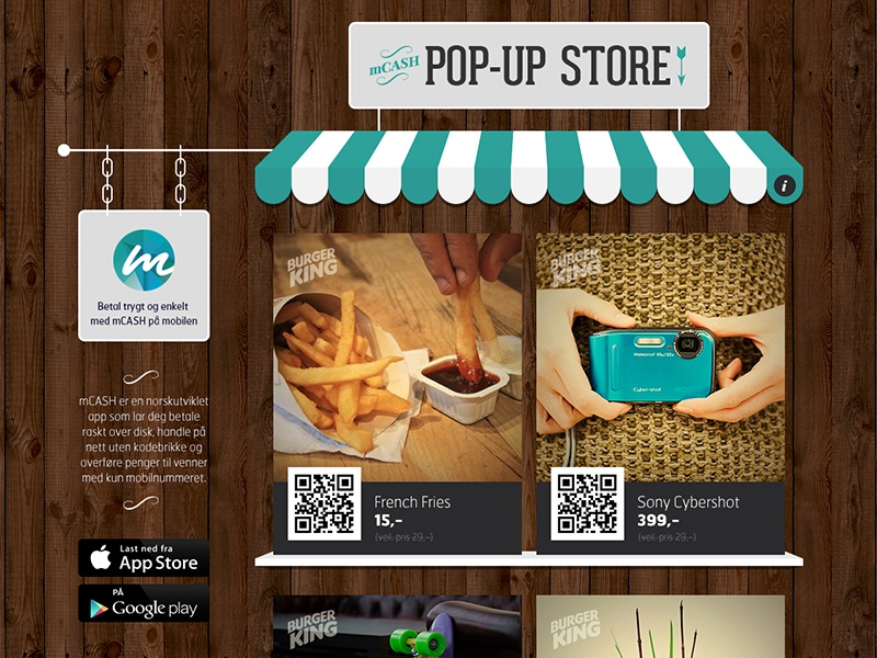 mCASH Pop-Up Store payments mcash store website app icons iconography illustrations
