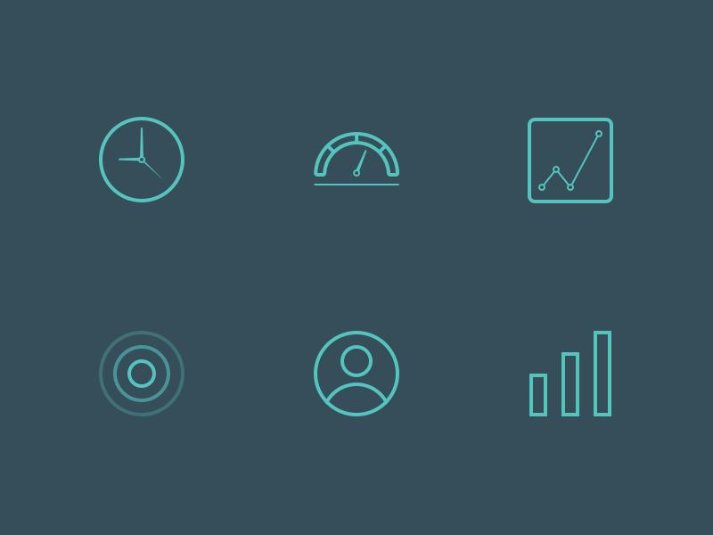 Metrics Icons iconography icons metrics symbol set