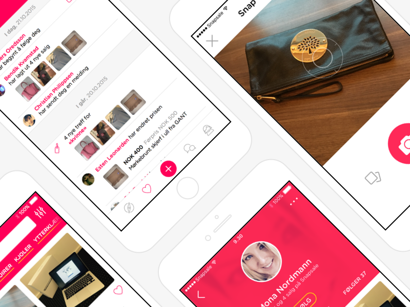 Snapsale App iOS Preview essential clean identity app ui icons snapsale