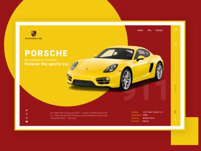 Porsche website design