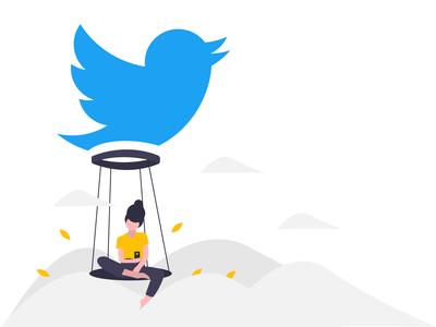Twitter illustration design