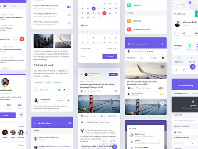 Travel stories app app notification article blog awards profile story travel mobile white clean minimal white design smooth ux ui