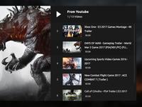 Youtube Playlist psd