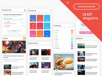 UI Kit Magazine Part 01 - Free Download PSD