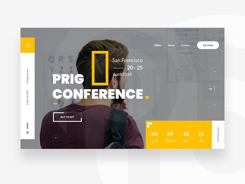 Prig Conference :: Slider webpage  website ux web website template setting profile support messenger page search gmail message chat dashboard admin email customer user ui client conversation mail clean minimal white chart account task attachment graph statistic app application desktop