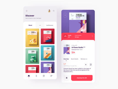 eBook Application illustration product cover buy books discover app mobile book webdesign typography clean minimal white homepage template web design smooth white color ux ui