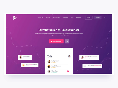 Breast Cancer Landing Page Interaction